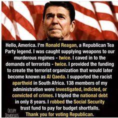 Al Qaeda, Look Man, Lol, Ronald Reagan, Republican Party, Let It Be, Reading, Words, Political Issues