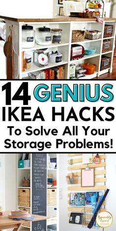 Ikea Kitchen Storage, Tidy Kitchen, Ikea Storage, Storage Hacks, Storage Ideas, Ikea Organization Hacks, Ikea Hacks, Toy Storage Solutions, Ikea Furniture Hacks
