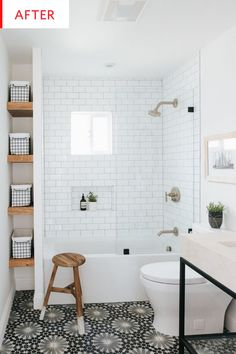Incroyable Before U0026 After   A Builder Grade Bathroom Goes From Boring To Wow |  Apartment Therapy
