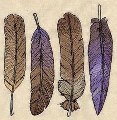 Flock Together Feathers | Urban Threads: Unique and Awesome Embroidery Designs