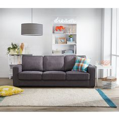 Shop the COLUMBIAN 3 Seat Fabric Sofa in Shale . This sofa is part of freedom's range of contemporary furniture online or in stores throughout Australia. Foam Cushions, 3 Seater Sofa, Club Style, Fabric Sofa, Colour Schemes, Floor Rugs, Keep It Cleaner, Small Spaces, Sofas