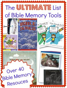 The Ultimate List of Bible Memory Tools: Music, apps, flashcards, copywork, and much much more. This list over over 40 memory resources will make memorizing the Bible a breeze!