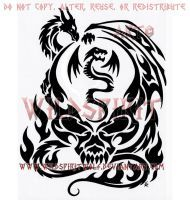 Sky Song Dragon And Phoenix Infinity Design by WildSpiritWolf on DeviantArt Tattoo Design Drawings, Skull Tattoo Design, Tattoo Designs Men, Tribal Tattoos, Tatoos, Ram Tattoo, Infinity Tattoos, Crystal Skull, Skull Art