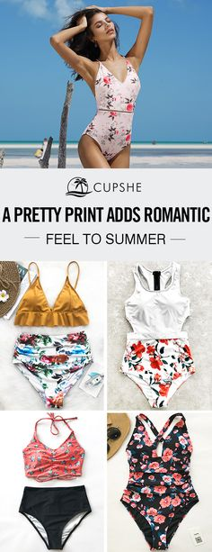 Escaping to the sun this year? Lucky you! Take the plunge with our new season collection of floral print swimwear. Our swimsuits and bikinis are certain to get you noticed poolside.