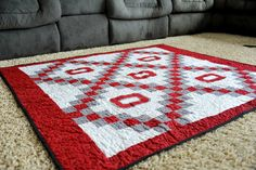Made by Miss Jill: Ohio State Quilt