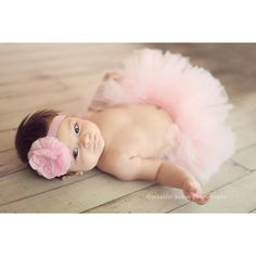 Angel Kiss Tutu Pale Pink Couture Tutu With Matching Flower Headband From The Sweet Sweet Couture Collection Gorgeous Newborn Photo Prop found on Polyvore