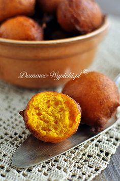 Mini pączki dyniowe Cupcakes, Low Carb Desserts, Sweet Potato, Buffet, Food And Drink, Peach, Vegetables, Fruit, Breakfast