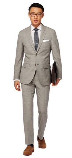 26bd556ac0b The perfect Men s Custom Suit in Espresso Plaid Cotton Linen Suit fabric