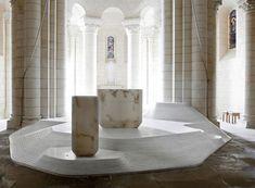 St Hilaire church in Melle by Mathieu Lehanneur  #architecture #religious-buildings