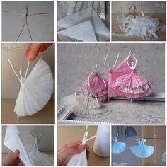 Ballerina fai da te tovagliolo di carta