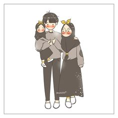 - Bismillah Suatu hari nanti Mau jalan-jalan sore 💕 Cute Muslim Couples, Cute Anime Couples, Cartoon Sketches, Cartoon Art, Cartoon Familie, Cover Wattpad, Islamic Cartoon, Couple Sketch, Anime Muslim