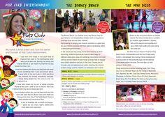 New Leaflet for Kidz Club Entertainment (Inside)