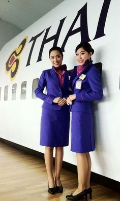 Tie Up Stories, Airline Uniforms, Thai Airways, Military Women, Cabin Crew, Flight Attendant, Welcome Aboard, Looking For Women, Elegant