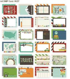 Simple Stories Snapt Double-Sided Card Pack, 4 by Travel, 24 Per Package Simple Stories Snap, Freebies, Pocket Scrapbooking, Holiday Crafts For Kids, Card Making Supplies, Travel Cards, Sewing Stores, Journal Cards, Project Life
