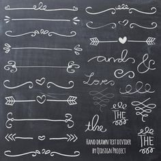 Hand drawn chalk doodle text divider swirly clip art for scrapbooking wedding . Hand drawn chalk doodle text divider swirly clip art for scrapbooking wedding invitation commercial Chalkboard Writing, Chalkboard Lettering, Chalkboard Designs, Chalkboard Ideas, Chalkboard Doodles, Chalk Writing, Lettering Ideas, Chalk Fonts, Chalkboard Clipart