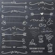 Krijt hand getrokken doodle tekst scheidingslijn door qidsignproject
