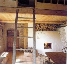 Old barn with loft, converted into a rustic home