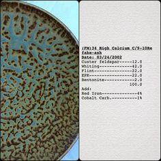 Test Tile Tuesday #Glazetest #testtile #testpiece #ceramics #glazechemistry #cone10 #testtiles #glazecalc #PIAcolorspectrum #fakeash #testtiletuesday #glazerecipe#glazes#testtilewithrecipe#glazerecipe_fm#glazedatabase #canons100 #glazeresearch