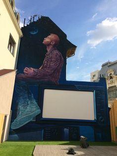 Sweet Damage Crew unveils a new piece in Bucharest, Romania Amazing Street Art, 3d Street Art, Street Art Graffiti, Street Artists, Street Installation, Wonder Art, Graffiti Murals, Types Of Art, Famous Artists