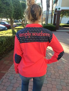 Simply Southern Logo Pullover - Coral from Chocolate Shoe Boutique