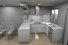 Propuesta de cocina solicitada para un adosado de obra nueva que se entregará próximamente.