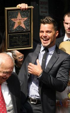 Hollywood Star - Ricky Martin is so cool he even received his very own star at the famous Hollywood walk of fame. - See more: http://www.hollyscoop.com/ricky-martin/pictures/692164