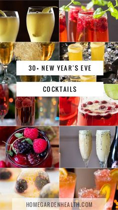 New Years Eve Cocktails – Get the Party Started Right! – Home, Garden & Health New Years Eve Drinks, New Year's Drinks, New Year's Eve Cocktails, Prosecco Cocktails, Colorful Cocktails, Holiday Cocktails, Party Drinks, Nye Party, Fun Drinks