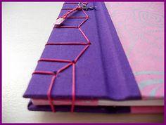 "#bookbinding Encuadernación japonesa (II) ""Kikko-Toji"" (concha de tortuga)"
