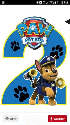 Paw Patrol Chase Wallpaper in 2020 (With images) Paw Patrol Cake, Paw Patrol Party, 2nd Birthday Parties, Baby Birthday, Escudo Paw Patrol, Imprimibles Paw Patrol, Paw Patrol Birthday Theme, Paw Patrol Decorations, Cumple Paw Patrol