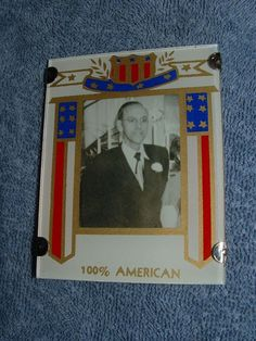 VINTAGE 1940'S WWII 100% AMERICAN ART DECO REVERSE PAINTED PICTURE FRAME #ArtDeco
