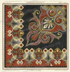 Cross Stitch Borders, Cross Stitch Charts, Cross Stitch Embroidery, Cross Stitch Patterns, Square Patterns, Stitch 2, Carpet Design, Needlepoint, Diy And Crafts