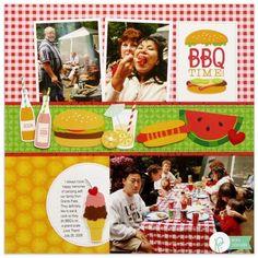 Pebbles Fun In The Sun BBQ Layout by Mendi Yoshikawa - Scrapbook.com