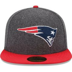Men's New Era New England Patriots Melton Basic 59FIFTY? Structured Fitted Hat by New Era. $34.39. Eyelets for ventilation Officially licensed Made in China. 80% polyester, 20% wool. Fitted hat. Team logo embroidered on front; NFL® Shield on backContrast-colored flat bill and top button. Keep your head toasty warm and full of spirit in this men's New Era® Melton Basic 59FIFTY® structured hat! The fitted cap displays your favorite team's logo embroidered on the front and the fa...