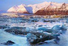 Jakulsarlon glacial lagoon, Iceland. #chicvilleusa