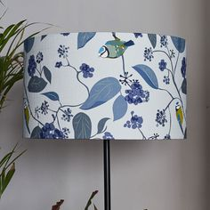 Shop for Blue Tit lampshade for your home by UK designer Lorna Syson. Bird and Wildlife lampshade - quality British designs - luxury lighting and patterned lampshade - FREE UK delivery over international delivery available Blue Lamp Shade, Ikea Wardrobe, Luxury Lighting, Diy Home Crafts, Lampshades, Ivy, Floral Design, Drawings, Spring