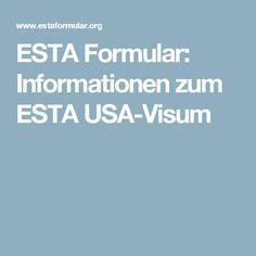 ESTA Formular: Informationen zum ESTA USA-Visum