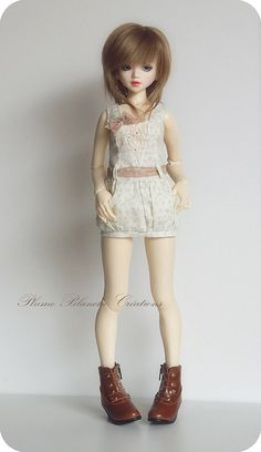 Robe et gilet unoa/minifee by Plume Blanche Créations, via Flickr