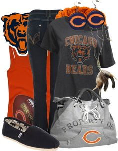 """Chicago Bears"" by saintcharlesstyle ❤ liked on Polyvore"