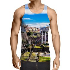 Rome Italy The Roman Forum Ancient Architect Vibrant Tank Top  Rome  Italy   TheRomanForum e9d416a9aab8