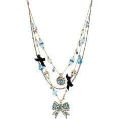 Betsey Johnson Bow Illusion Necklace