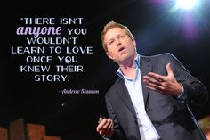 Andrew Stanton tells us how to tell stories at TED2012. Photo by Duncan Davidson