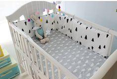 Promotion! 6PCS bedding balloon cartoon Baby Cradle Crib Netting Bedding Set for Newborn  (bumper+sheet+pillow cover)