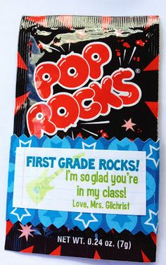 First Grade Rocks! {A Pop Rocks Treat for Open House} - Mrs. Gilchrist's Class