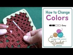 How To Crochet a Granny Square: Change Color - YouTube