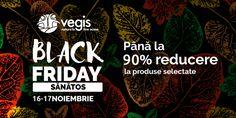Black Friday 2017 la Vegis: pana la 90% reduceri la produse naturiste Ten, Black Friday
