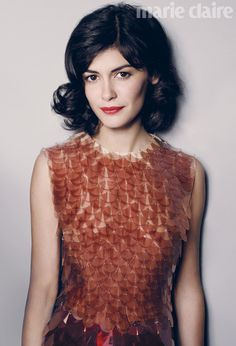 Net Photo: Audrey Tautou Marie Claire UK August Image ID: . Pic of Audrey Tautou - Latest Audrey Tautou Image. Audrey Tautou, Marie Claire, Star Francaise, Natural Hair Styles, Short Hair Styles, Natural Curls, Winter Typ, Paris Chic, Actrices Hollywood