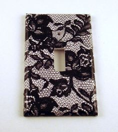 Light Switch Cover Wall Decor Switchplate Switch Plate in  Midnight Lace (197S). $6.00, via Etsy.