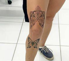 Swallow Bird Tattoos, Tarot Tattoo, Leg Tattoos Women, Knee Tattoo, Mandala Tattoo Design, Tattoo Feminina, Tattoo Sleeve Designs, Piercing Tattoo, Love Tattoos