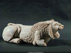 Sumerian ivory lion 5th-2nd BCE Iraq Museum.Bagdhad