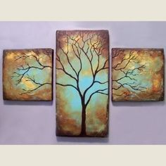 Bare abstract tree painting . I love this style! Sculpting, Abstract Tree Painting, Painting & Drawing, Rustic Art, Canvas Art, Canvas Paintings, Original Paintings, Cross Tree, Trees